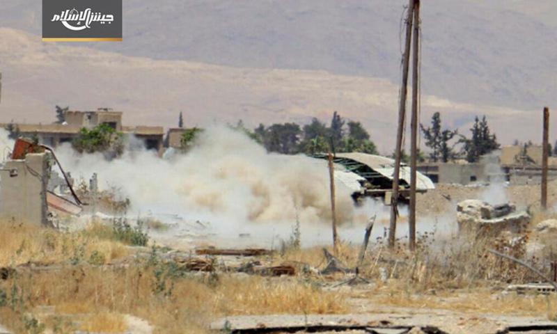 آلية جسر متنقل على جبهة حوش الضواهرة في الغوطة - 19 حزيران 2017 (جيش الإسلام)