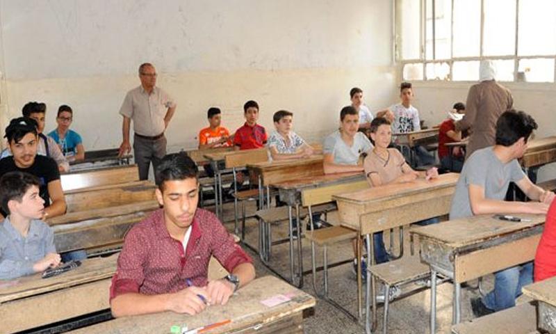 طلاب التاسع الأساسي في سوريا - 2017 (إنترنت)