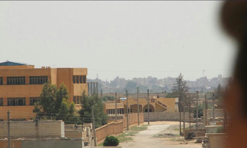 حي الجزرة في الجهة الغربية من مدينة الرقة - 8 حزيران 2017 (حملة غضب الفرات)