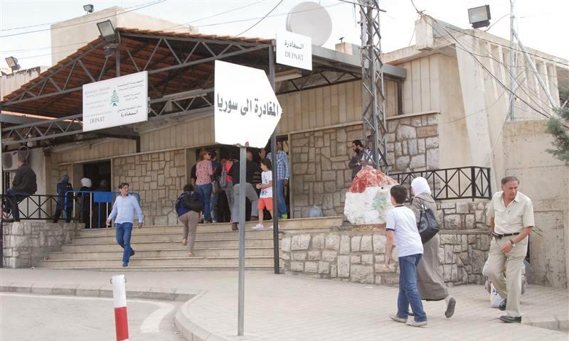 تعبيرية: ننقطة المصنع الحدودية بين سوريا ولبنان (إنترنت)