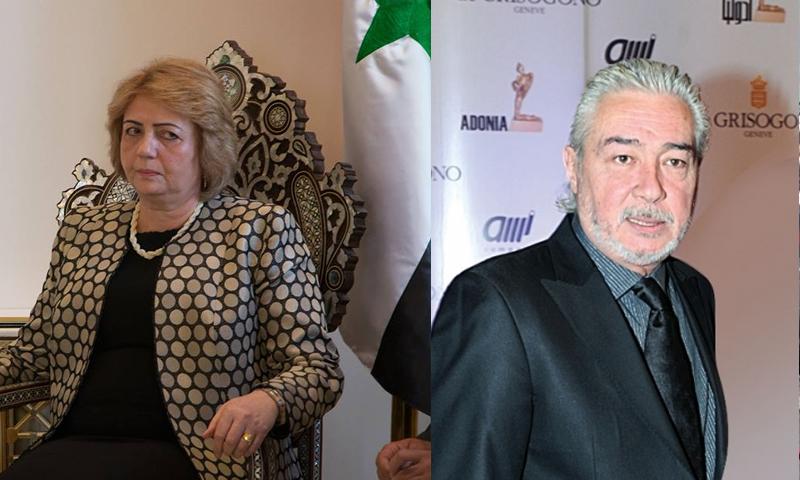 نائب رئيس مجلس الشعب نجدت أنزور ورئيسته السابقة هدية عباس - (انترنت)