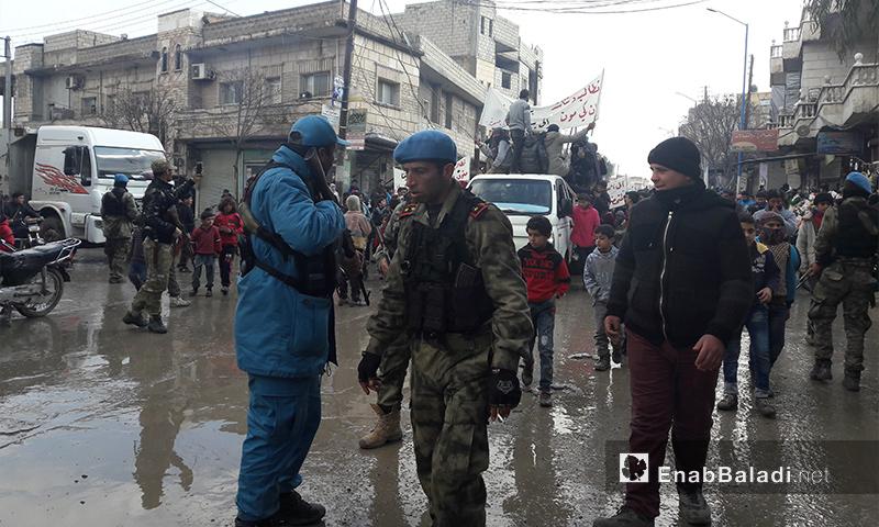 عناصر من القوة الأمنية في جرابلس - كانون الثاني 2017 (أرشيف عنب بلدي)