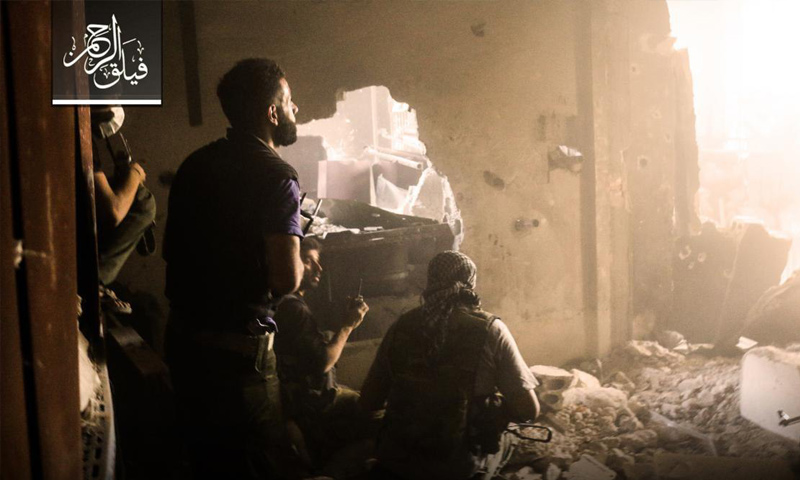 عناصر من فيلق الرحمن على جبهة جوبر في الغوطة الشرقية - (فيلق الرحمن)عناصر من فيلق الرحمن على جبهة جوبر في الغوطة الشرقية - (فيلق الرحمن)