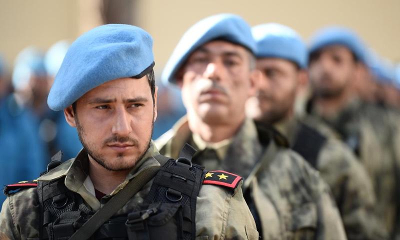عناصر من الشرطة الوطنية في ريف حلب الشمالي - (انترنت)