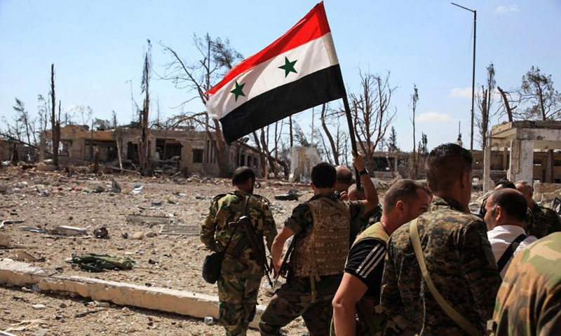 عناصر من قوات الأسد في ريف حلب الشرقي - (انترنت)