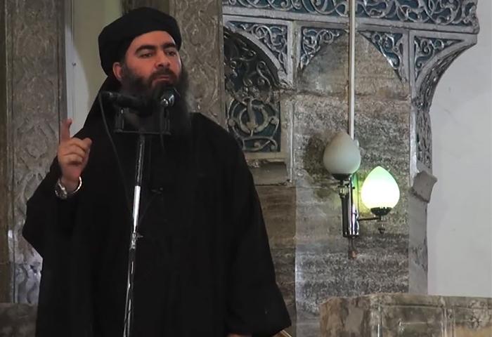 أبو بكر البغدادي، زعيم تنظيم الدولة الإسلامية (إنترنت)