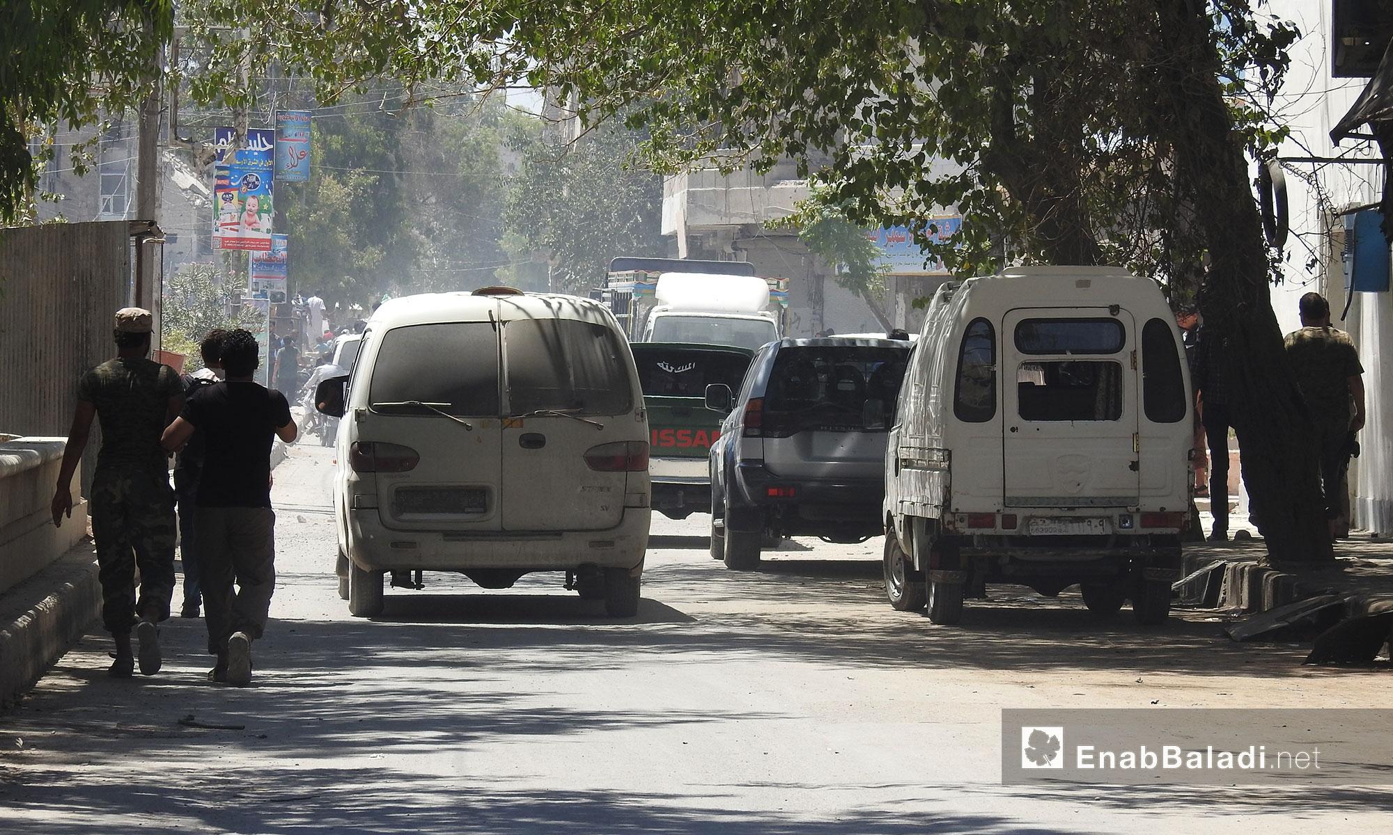 من الحياة اليومية في مدينة الباب - 9 تموز 2017 (عنب بلدي)