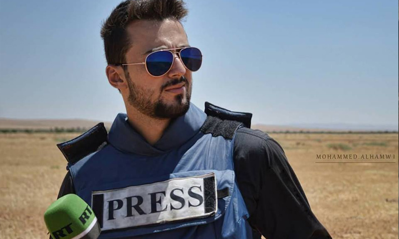 خالد الخطيب مراسل قناة روسيا اليوم في ريف حمص - (فيس بوك)