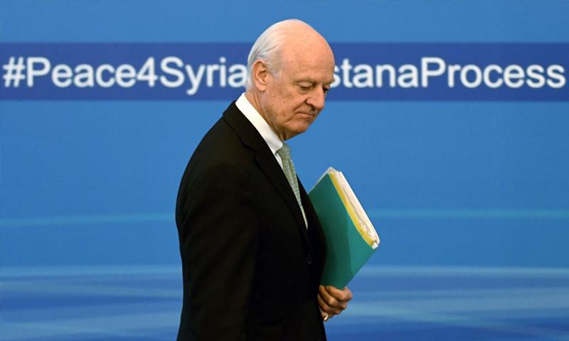 المبعوث الخاص إلى سوريا ستيفان ديميستورا_(AFP)