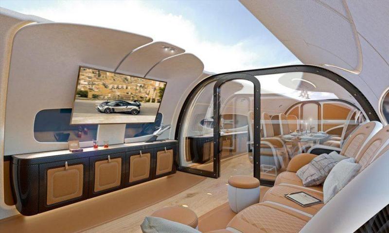 """طائرة """"انفينيتو"""" المصممة بسقف شفاف - (ذا صن)"""