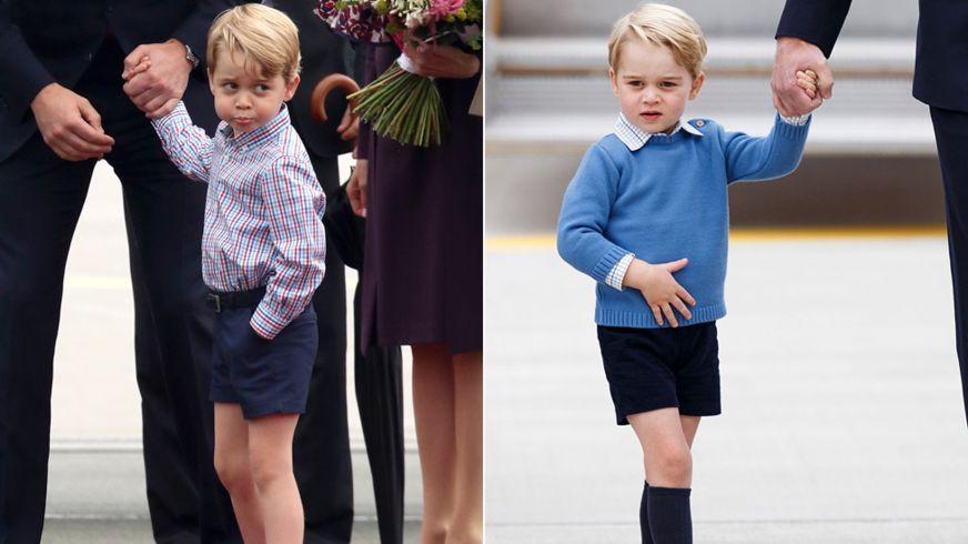 الأمير جورج، حفيد الأميرة دايانا، وهو يرتدي سراويل قماشية قصيرة (غيتي)
