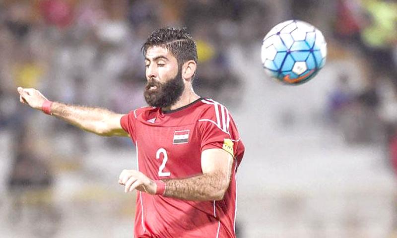 اللاعب السوري احمد الصالح لاعب هينان جيانى الصينى (انترنت)
