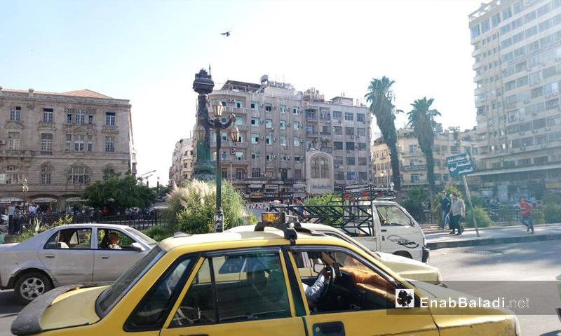 ساحة المرجة وسط العاصمة دمشق - 15 آب 2017 (عنب بلدي)