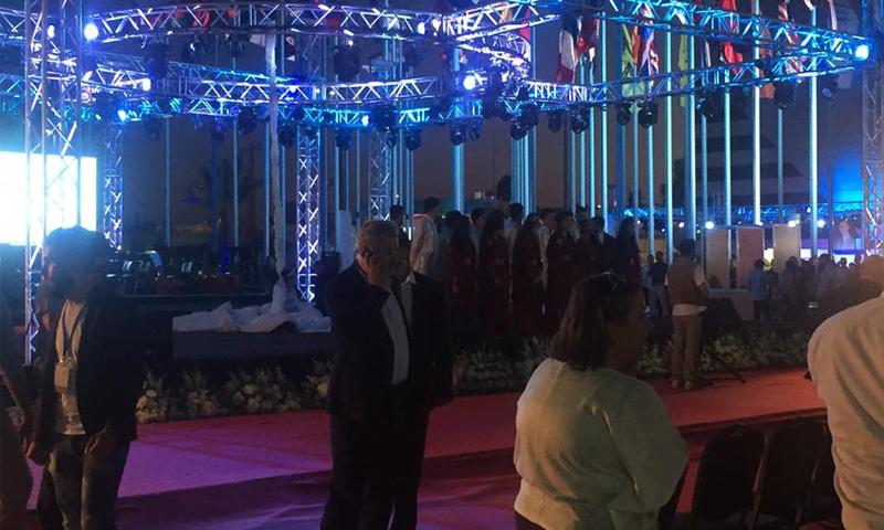 أثناء حفل افتتاح معرض دمشق الدولي بدورته الـ 59 - 17 آب 2017 - (انترنت)