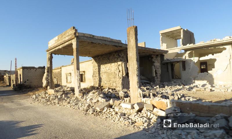 منزل مدمر في منطقة الحولة شمال حمص - آب 2017 (عنب بلدي)