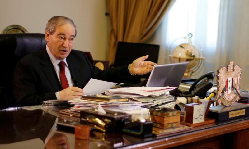 فيصل المقداد، نائب وزير الخارجية السوري (رويترز)