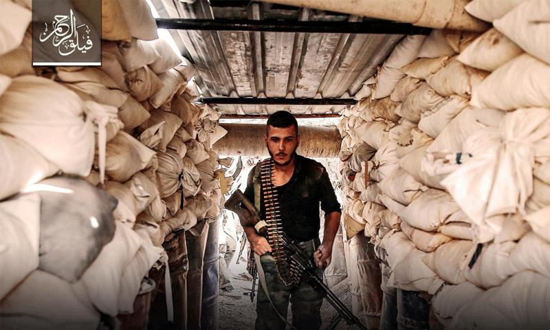 تعبيرية: مقاتل من فيلق الرحمن على جبهة عين ترما - تموز 2017 (فيلق الرحمن)