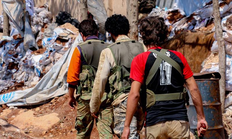 """عناصر من حركة """"نور الدين الزنكي"""" في ريف حلب الغربي (معرفات الحركة)"""