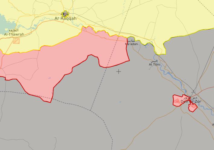 خريدة توضيحية لتقدم قوات الأسد في ريف الرقة الجنوبي الشرقي - (live map)