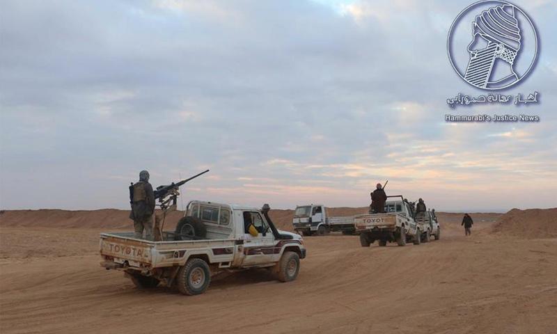 عناصر من جيش مغاوير الثورة في الحماد السوري - (أخبار عدالة حمورابي)