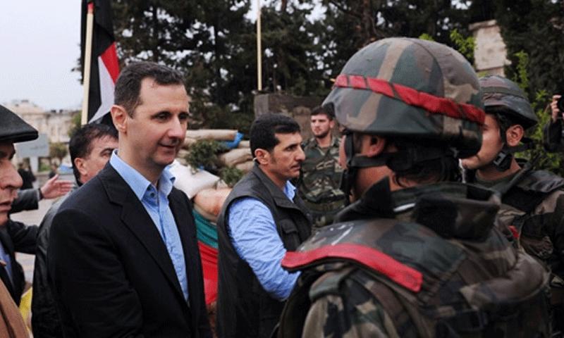 تعبيرية: الأسد يلتقي عناصر من جيشه في دمشق (أرشيفية)