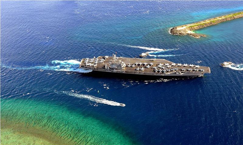 صورة جزيرة غوام - 11 آب 2017 - (poderiomilitar-jesus.blogspot)