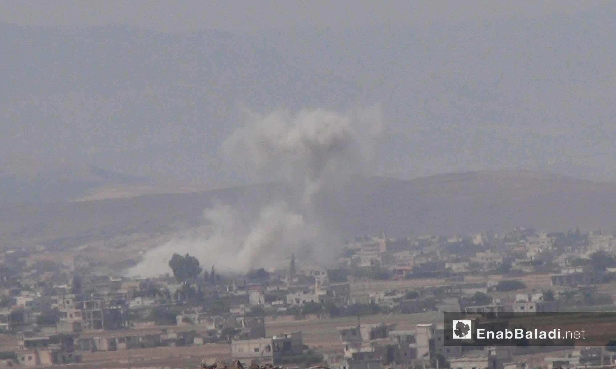 غارات تستهدف الحولة في ريف حمص الشمالي - 10 آب 2017 (عنب بلدي)