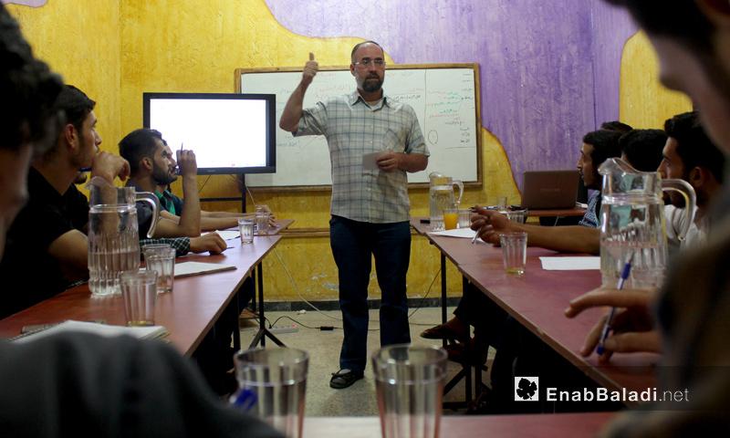 تدريبات على الحوكمة الرشيدة والتثقيف السياسي في الغوطة الشرقية - 10 آب 2017 (عنب بلدي)