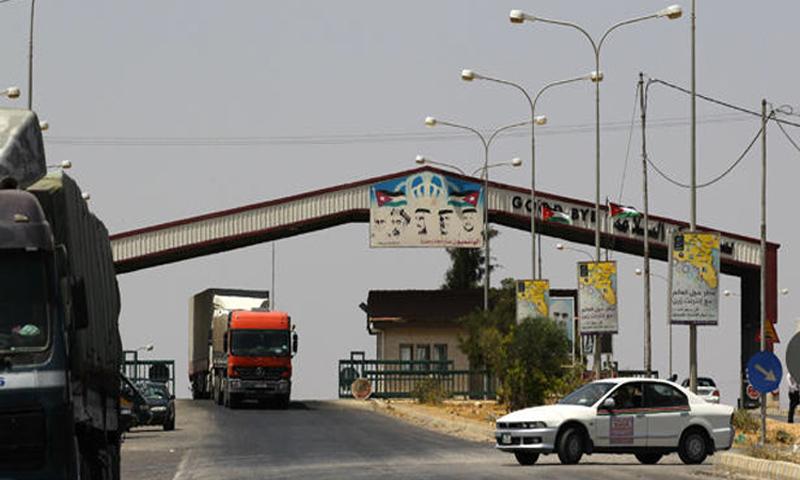 معبر نصيب الحدودي بين سوريا والأردن (انترنت)