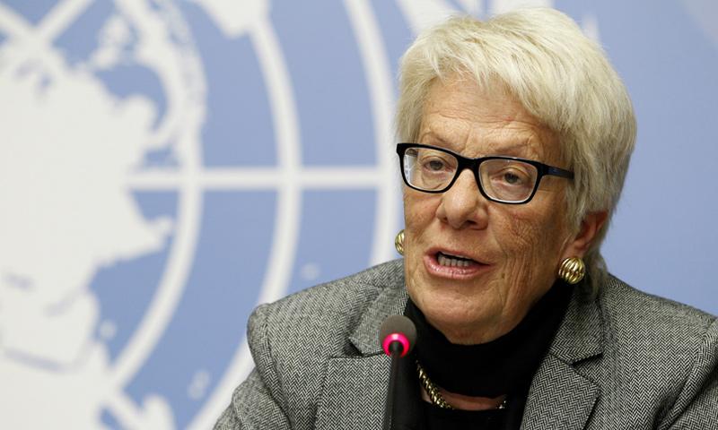 المحققة الدولية بالشأن السوري كارلا ديل بونتي - (رويترز)