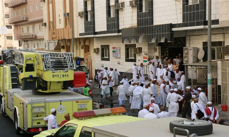 حادث الحريق في مكة 8 آب 2017 - الصورة من الدفاع المدني السعودي