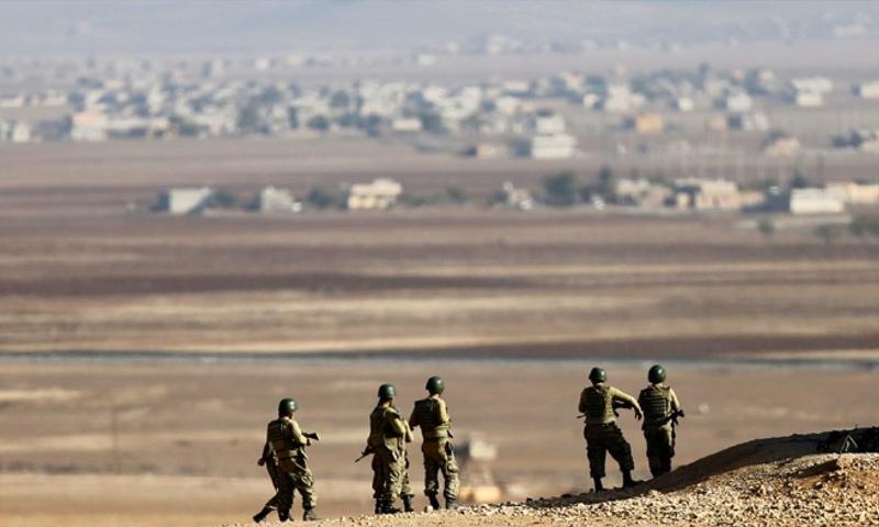 عناصر من الجندرمة التركية على الحدود مع سوريا - (انترنت)