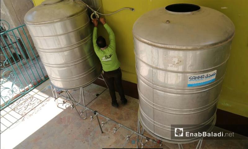 محطة فلترة المياه في الغوطة الشرقية - 25 آب 2017 (عتب بلدي)