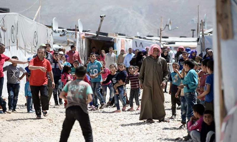 مخيم للاجئين السوريين في لبنان - 12 آب 2017 - (القدس العربي)