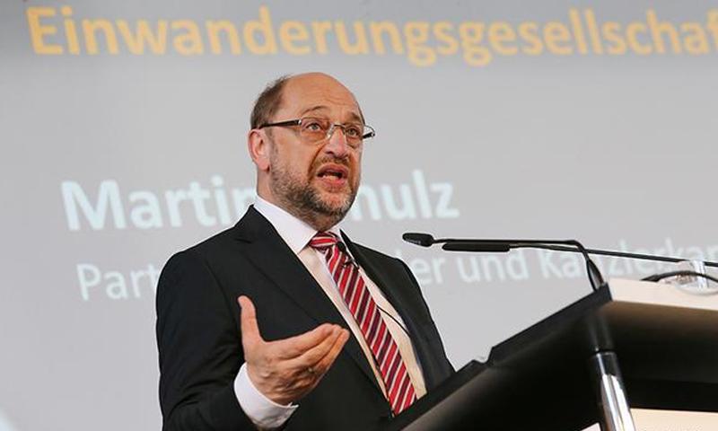 زعيم الحزب الاشتراكي الديمقراطي الألماني مارتن شولتس - (dpa)