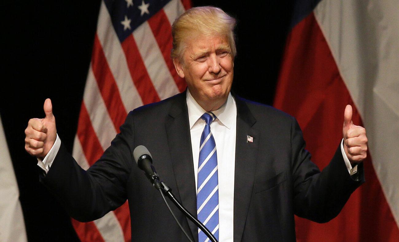 الرئيس الأمريكي دونالد ترامب أثناء الحملة الانتخابية - 9 آذار 2017 (DAVID YASTREMSKY)