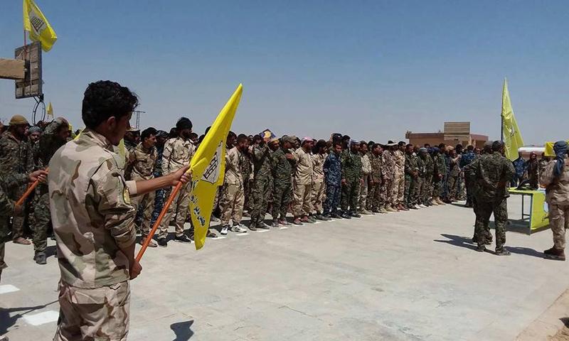 """بيان إعلان انضمام سبع كتائب من """"قوات النخبة"""" إلى """"قسد""""- 25 آب 2017 (قوات سوريا الديمقراطية)"""