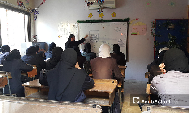 من الدورة التدريبية التي تنظمها شعبة دوما في الغوطة الشرقية - آب 2017 (عنب بلدي)
