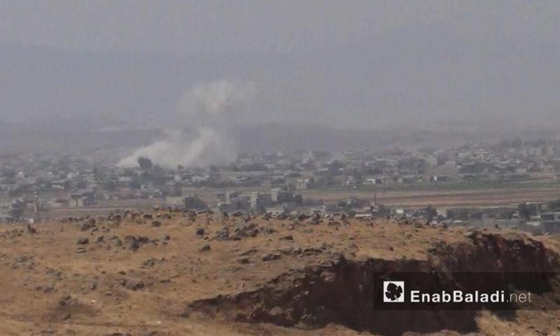 القصف على الحولة شمال حمص - 10 آب 2017 (عنب بلدي)
