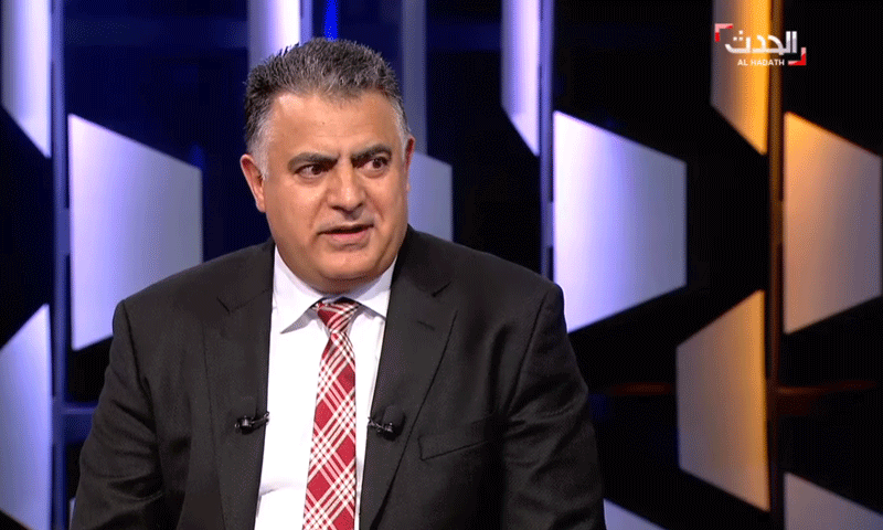 خالد المحاميد، نائب رئيس وفد المعارضة إلى جنيف - 2 آب 2017 (يوتيوب قناة الحدث)
