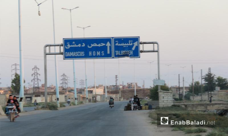 أوتوستراد الرستن تلبيسة شمالي حمص - 1 آب 2017 - (عنب بلدي)