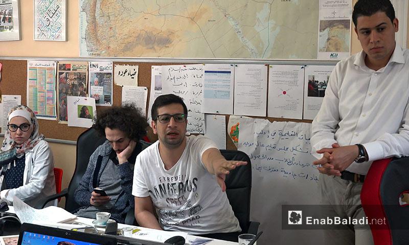 ورشة عن مصادر المعلومات في الصحافة الاستقصائية لصحفيين سوريين في اسطنبول - آب 2017 (عنب بلدي)