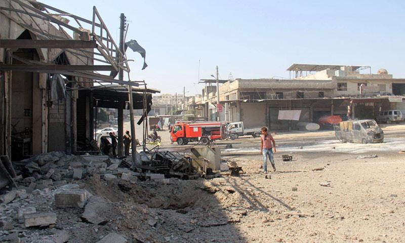 انفجار عبوة ناسفة في مدينة الباب - 16 أيلول 2017 (ناشطون)