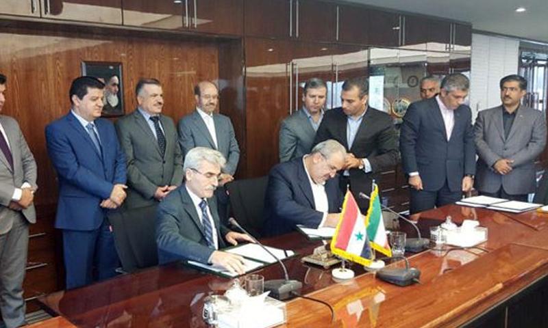 توقيع مذكرة تفاهم بين سوريا وإيران في القطاع الكهربائي - الثلاثاء 12 أيلول - (سانا)