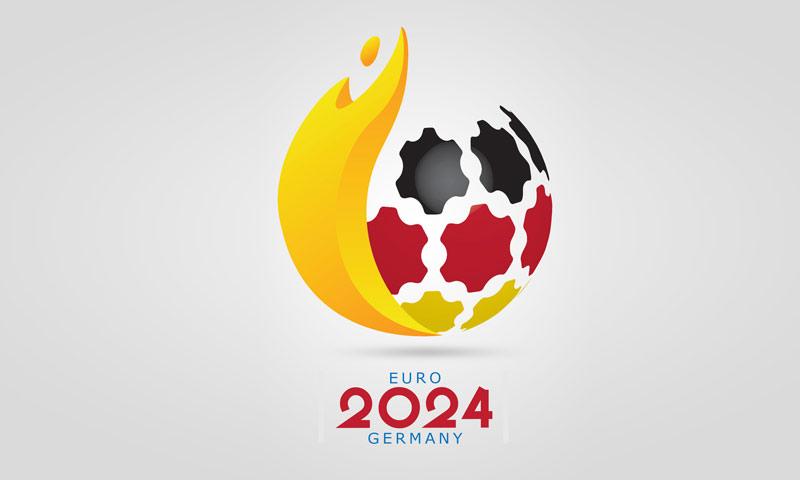 الشعار الذي صممه السوريان عمار صبوح ويوسف محلول لبطولة أمم أوروبا 2024