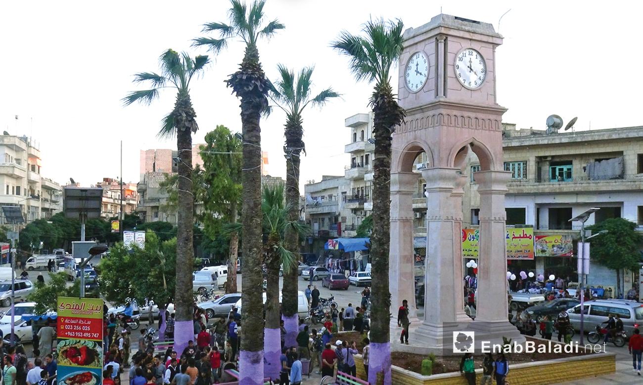 ساحة الساعة في مدينة إدلب - كانون الثاني 2017 (عنب بلدي)