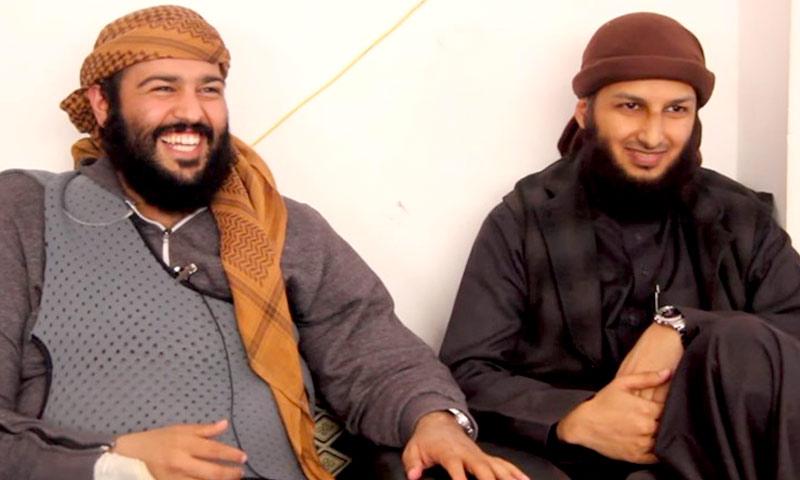 الداعية السعودية عبد الله المحيسني (يسار) والشرعي مصلح العلياني (يوتيوب)