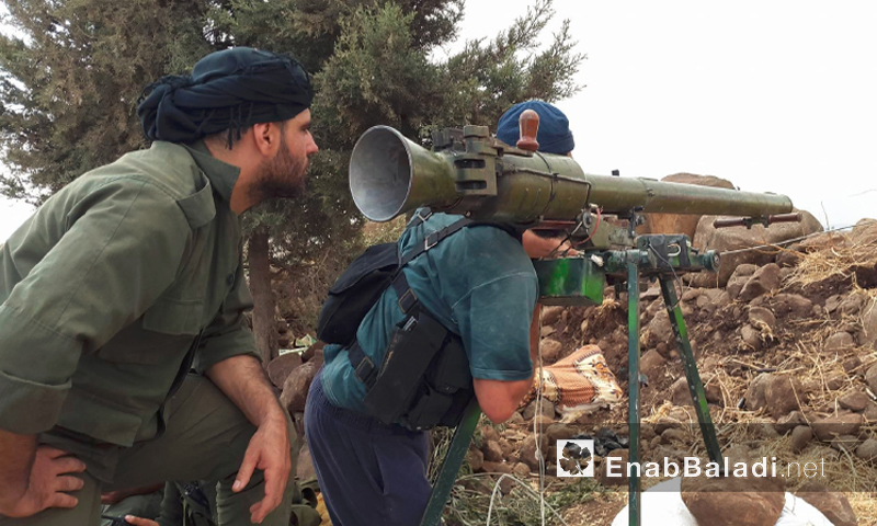 """حاجز """"منع تقدم"""" لقوات المعارضة على حاجز """"الديك"""" في جبهة الزارة - الخميس 12 أيار (عنب بلدي)"""