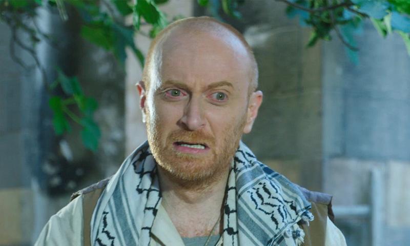 الممثل مصطفى الخاني بدور النمس في مسلسل باب الحارة - (انترنت)