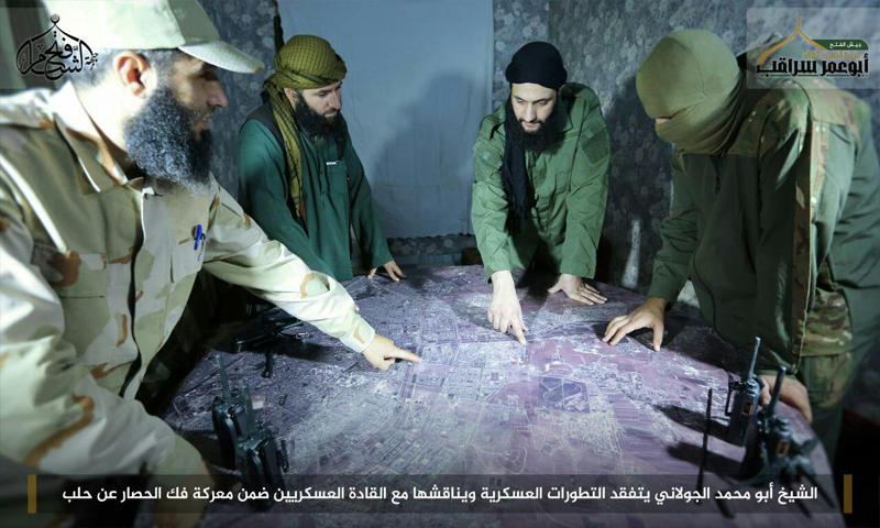 أبو محمد الجولاني يقود المعارك في حلب (فتح الشام)